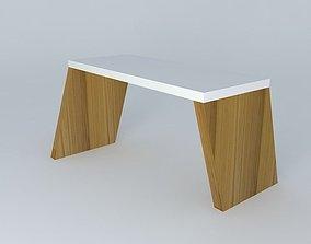 wooden asymmetrical archway 3D