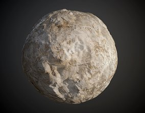 3D model Concrete Wall Cracked Rough Damaged Seamless PBR
