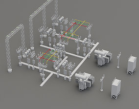 Electricity power network 3D