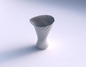 Vase vortex smooth with twisted bands 2 3D print model
