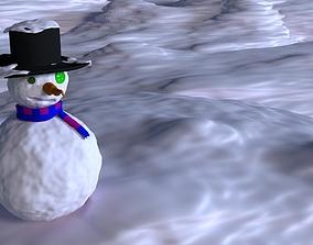 heigh Snowman 3d model