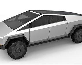 Tesla Cyberpunk truck 3D