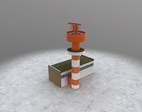 EDDH Radar Tower 3D model