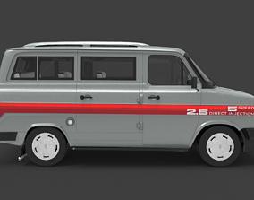 FORD TRANSIT MK2 HQ INTERIOR UPTADE 3D model