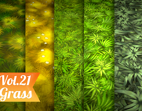 Stylized Grass Vol 21 - Hand Painted Texture Pack 3D model