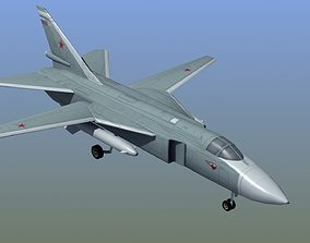 Su24 Fencer Bomber 3D asset