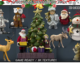 3D asset CHRISTMAS ORNAMENTS PACK