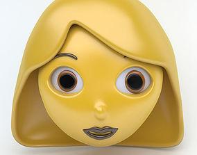WOMAN emoji face 3D asset