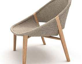 Tribu elio handwoven armchair 3d model