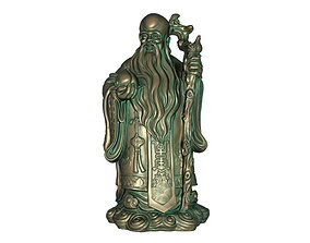 3D model low-poly God of Longevity