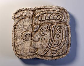 3D asset Mayan Symbol PBR Lowpoly