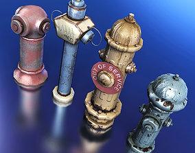 Fire Hydrants 3D model