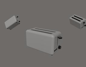 3D asset rigged Toaster