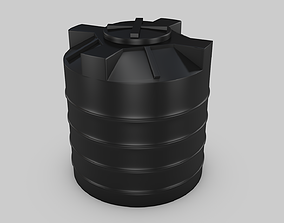 plastic Water tank 3D model low-poly