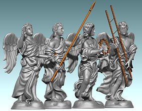 The Four Angels - CNC Router Carving 3D print model