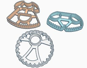 Baby clothes Cookie Cutter Set 3D print model