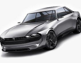 3D Peugeot E-Legend Concept