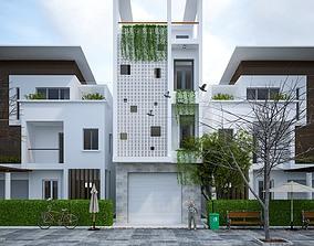 House design 3d model animated
