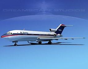 Boeing 727-100 Delta Airlines 2 3D model
