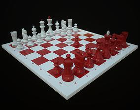 Chess 3D asset game-ready PBR