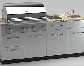 3D Outdoor Kitchen Grill