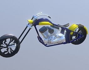 3D asset Custom Chopper Bike Harley Davidson