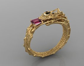 3D print model ouroboros ring