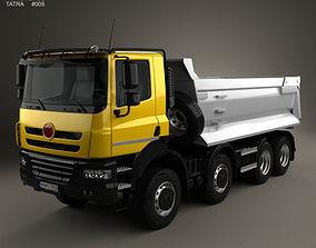 3D Tatra Phoenix Tipper Truck 4-axle 2011