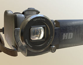 3D model Digital Video Camera Realistic PBR
