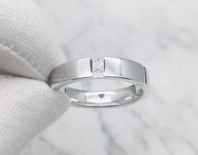 3DM Art deco princess cut male engagement ring