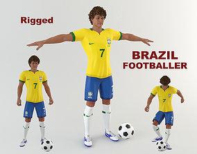 Brazil Footballer 3D