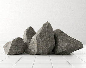 Rock stone collection n3 3D model