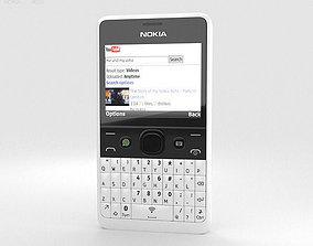 Nokia Asha 210 White 3D