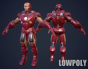 IronMan 3D LowPoly Game Model VR / AR ready