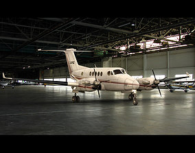 Beechcraft King Air 200 Private Black 3D model