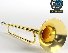School band toy trumpet 3D model
