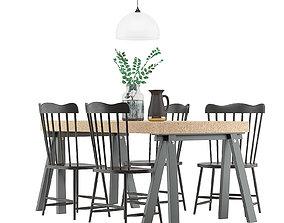 3D Dining Furnitures Set 35