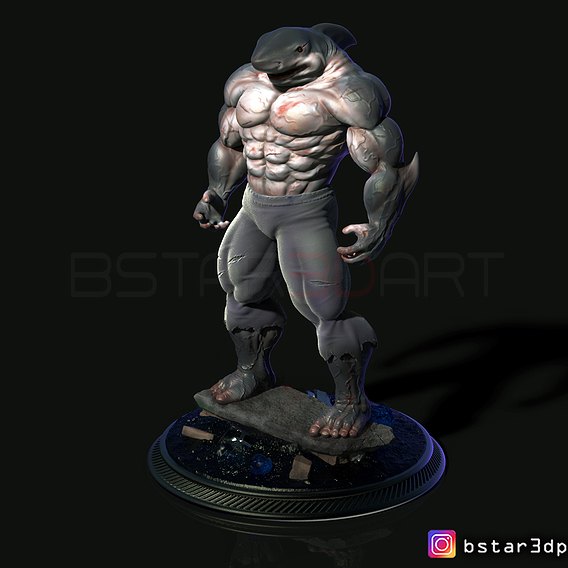 Shark Man for 3d printing