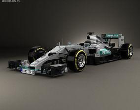 3D model Mercedes-Benz F1 W06 Hybrid 2015