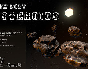 3D model Low Poly Asteroids