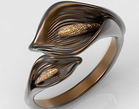 3D print model Calla Lilies ring