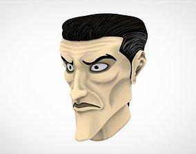 3D model Male Head human