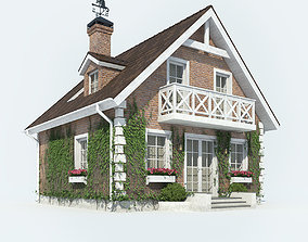 3D model House hut europe