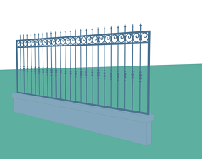 3D asset Grille Toon Finished