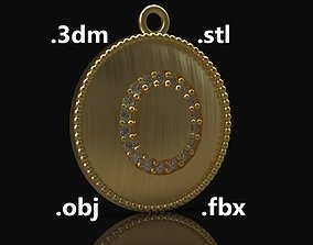 Model 180 Alphabets Necklace The Letter O Necklace