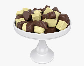 3D model Chocolate candy on tray