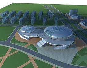 Office Building city-block 3D model