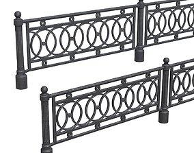 3D asset Park fence 01