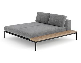 Gloster Grid Left - Right Chill Chaise Unit - 6 3D model