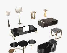 3D Lamps and tables furniture collection